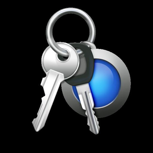 Access Password Car Keys Keychain / Mac OS X style / 128px ...