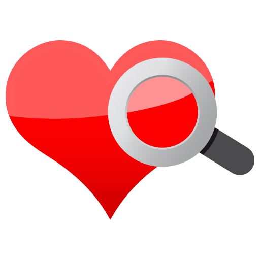 Magnifier search heart love