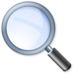 Magnifying glass find zoom search