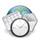Email clock earth calendar world internet