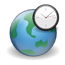 Globe earth clock internet world