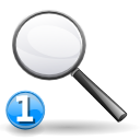 Search magnifying glass find zoom