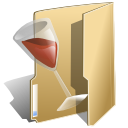 Wine alcohol folder
