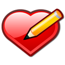 Heart pen bookmark love edit