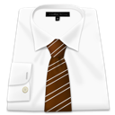 Shirt brown tie