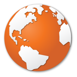 Orange World Globe Internet Earth / Siena / 128px / Icon Gallery: icongal.com/gallery/icon/31020/128/orange_world_globe_internet_earth
