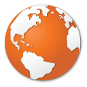Orange world globe internet earth