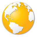 Internet yellow earth globe world