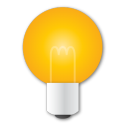 Light bulb idea yellow