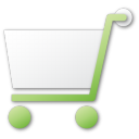 Shopping green cart