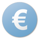 Euro blue currency