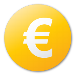 Currency yellow euro