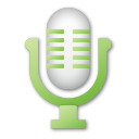 Green microphone