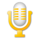 Yellow microphone