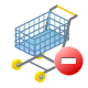 Remove shopping ecommerce cart