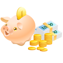 Cash safe money coins piggy bank pig