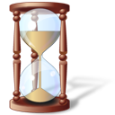 Clock hourglass history pending time