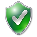Green shield check protected checked