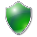 Shield antivirus protection green