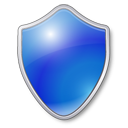 Antivirus shield blue protection