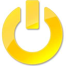 Power Shut Down Yellow Vista Style Base Software 128px Icon Gallery
