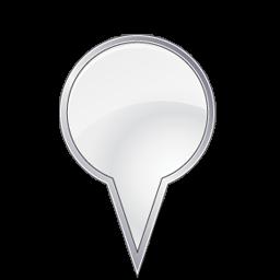 Big Location Pin Bulbgrey Vista Style Gis Gps Map 128px Icon Gallery