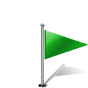Pinpoint flag flag1rightgreen