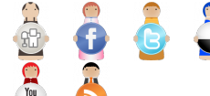 Social bookmarking characters