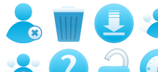 Bunch of Bluish Icons