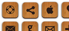 50 Free Wood Textured Social Media Icons