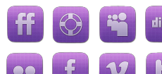 Vibrant Sophisticated Social Media Icon Set