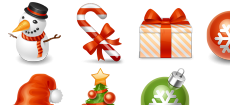 Winter Holiday Icons